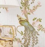 Nina-Campbell Paradiso Lichtgroen En Roze Wallpaper