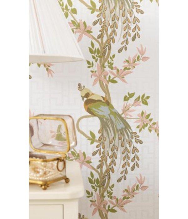 Nina-Campbell Paradiso Beige En Rood Wallpaper