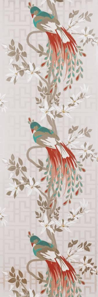 Paradiso beige en rood ncw4030 04 de mooiste muren - Nina campbell paradiso wallpaper ...