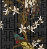 Nina-Campbell Paradiso Zwart En Groen Wallpaper