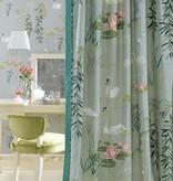 Nina-Campbell Swan Lake Zacht Geel Wallpaper