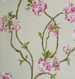 Nina-Campbell Orchard Blossom Beige En Roze Wallpaper