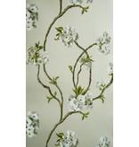 Nina-Campbell Orchard Blossom Zilver En Grijs NCW4027-05 Behang