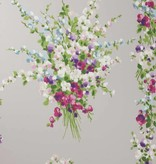 Nina-Campbell Suzhou Amethyst/Grey Wallpaper