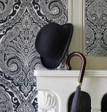 Nina-Campbell Khitan Silver Wallpaper