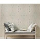 Nina-Campbell Holmwood Aqua/White Wallpaper