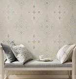 Nina-Campbell Holmwood French grey/White/Silver Wallpaper