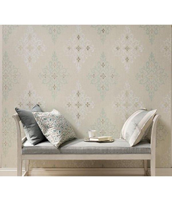 Nina-Campbell Holmwood French grey/White/Silver NCW4120-03 Behang