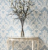 Nina-Campbell Ardwell French grey/White Wallpaper