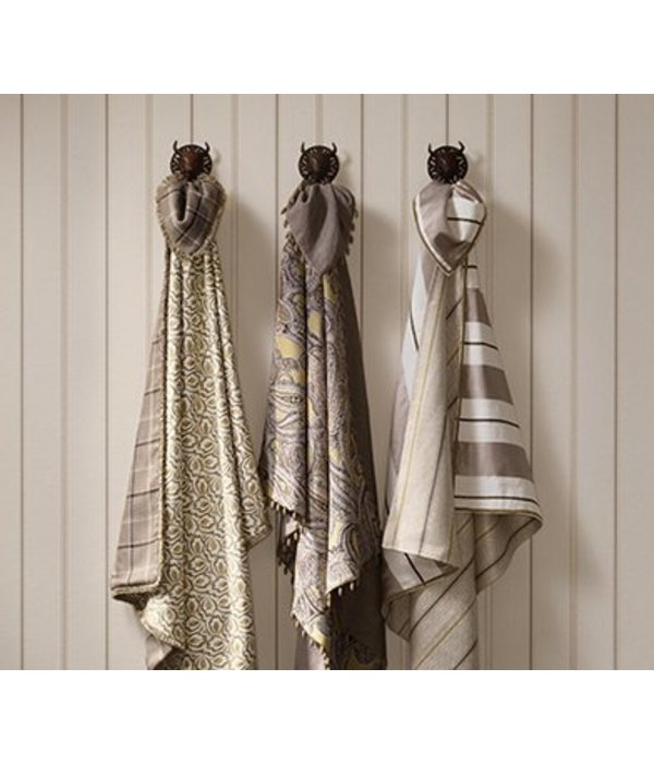 Nina-Campbell Strome Charcoal/Magenta Wallpaper