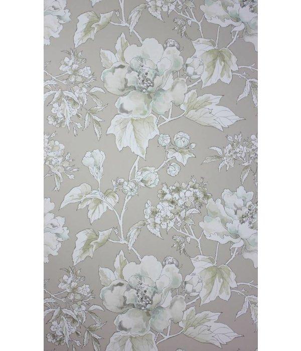 Nina-Campbell Benington Buff Wallpaper