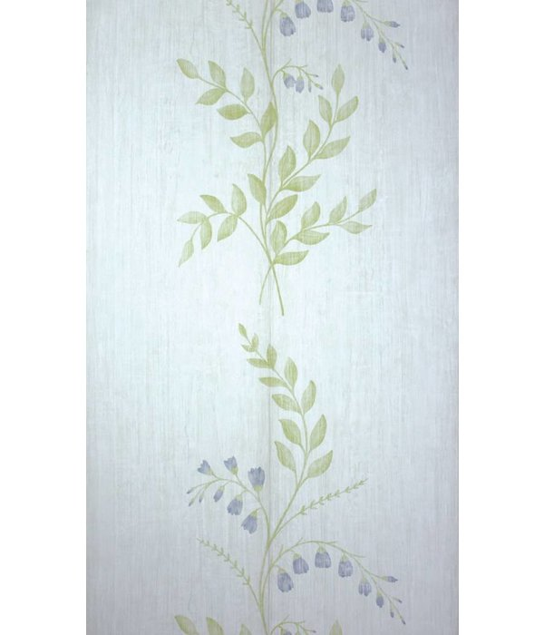 Nina-Campbell Aubourn White/Blue Wallpaper