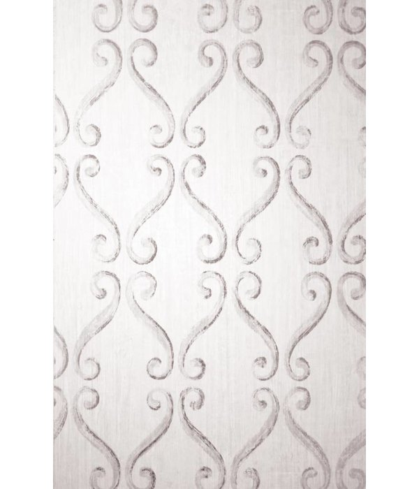 Nina-Campbell Wilmington Ivory/Silver Wallpaper