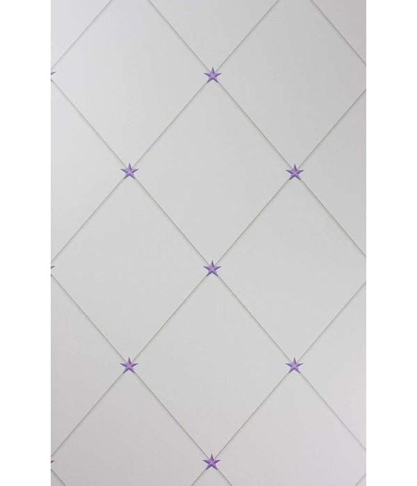 Nina-Campbell Torosay Purple/Stone Wallpaper