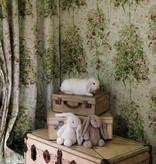 Nina-Campbell Lochwood Green/Coral Wallpaper