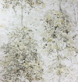 Nina-Campbell Lochwood Charcoal/Gold Wallpaper