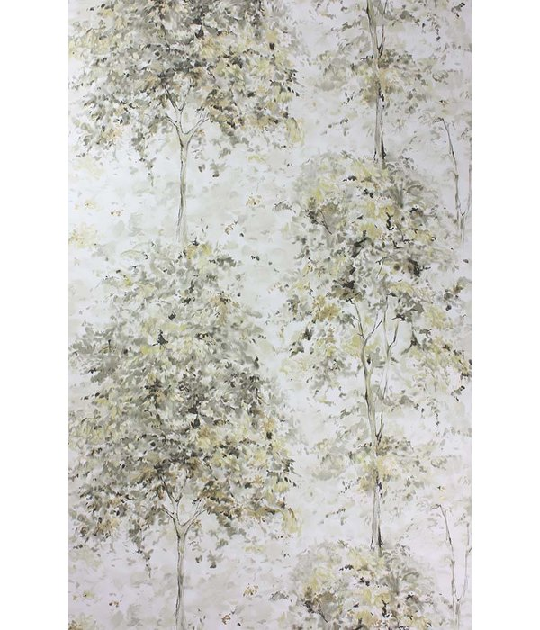 Nina-Campbell Lochwood Charcoal/Gold NCW4152-02 Behang