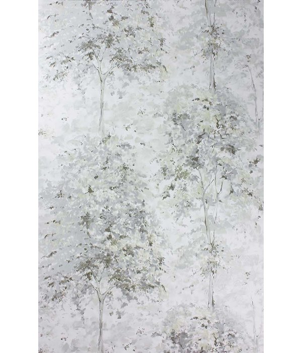 Nina-Campbell Lochwood Silver/White Wallpaper