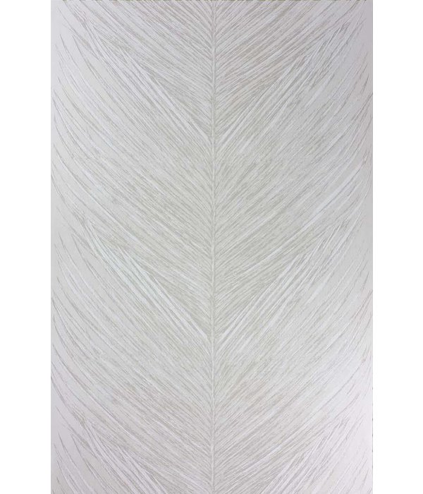 Nina-Campbell Mey Fern White/Silver Wallpaper
