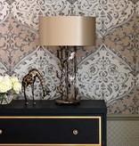 Nina-Campbell Montrose Black/Gold Wallpaper
