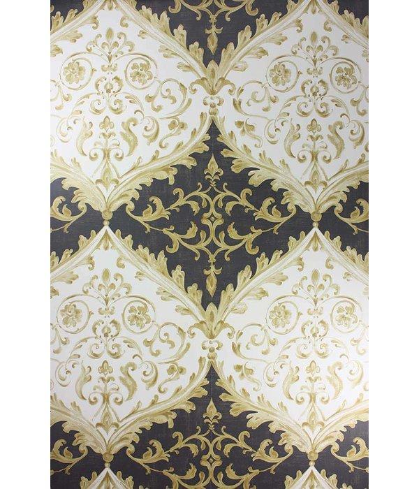 Nina-Campbell Montrose Black/Gold NCW4156-06 Behang