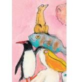Kek-Amsterdam Jumping Pinguins II WS-002 Behang