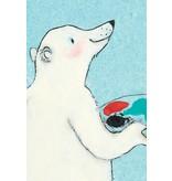 Kek-Amsterdam Polar Bear Selfie WS-005 Behang