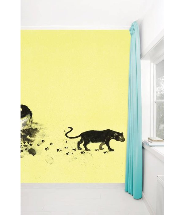 Kek-Amsterdam Black Panther Footprint WS-007 Behang