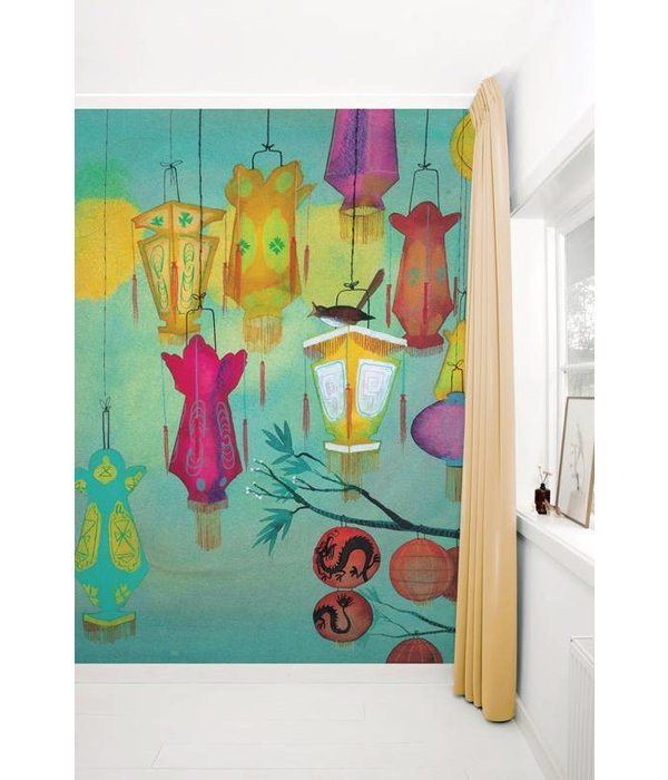 Kek-Amsterdam Chinese Lanterns WS-021 Behang