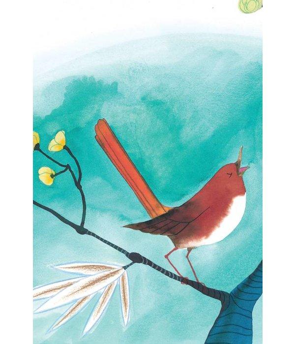 Kek-Amsterdam Singing Bird WS-022 Behang