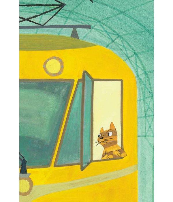 Kek-Amsterdam Little Train Driver WS-025 Behang