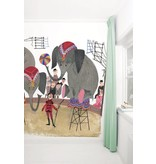 Kek-Amsterdam Circus Elephants WS-035 Behang