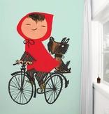 Kek-Amsterdam Riding my Bike GREEN Wallpaper