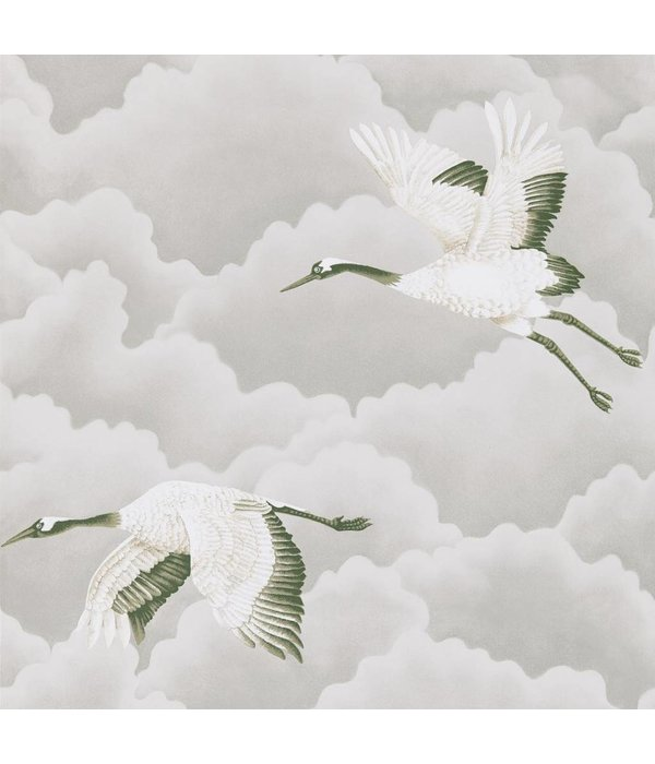 Harlequin Cranes in Flight Platinum 111230 Wallpaper