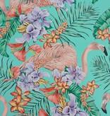 Matthew-Williamson FLAMINGO CLUB Green Multi Wallpaper