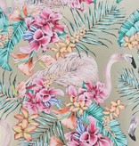 Matthew-Williamson FLAMINGO CLUB Gold Multi Color Wallpaper