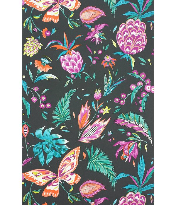 Matthew-Williamson HABANERA Black Multi Color Wallpaper