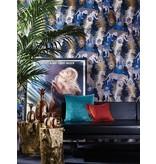 Matthew-Williamson LEOPARDO Blue Brown White Wallpaper
