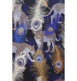 Matthew-Williamson LEOPARDO Blue Brown White W6805-01 Behang