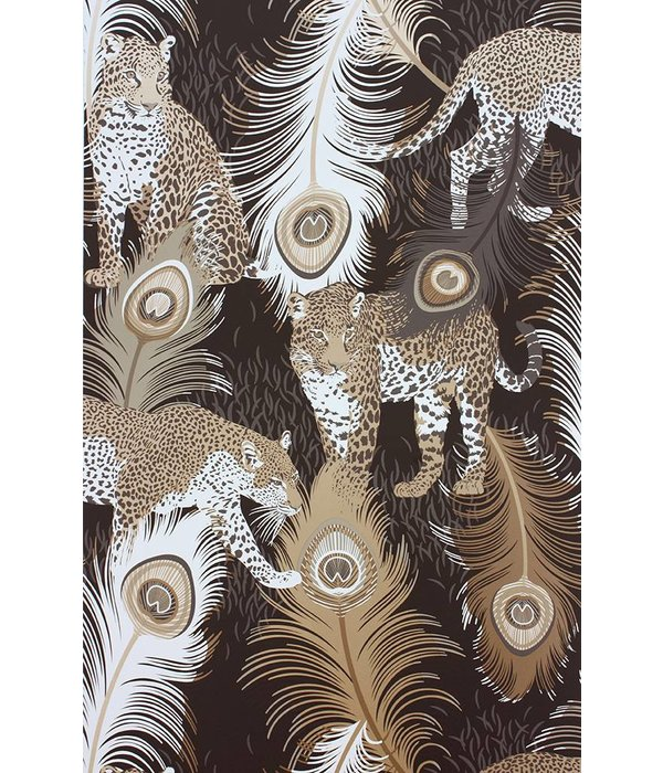 Matthew-Williamson LEOPARDO Brown White W6805-02 Behang