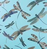Matthew-Williamson Dragonfly Dance Jade/Denim/Gilver Wallpaper