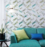 Matthew-Williamson Dragonfly Dance Taupe/Met. Gilver Wallpaper