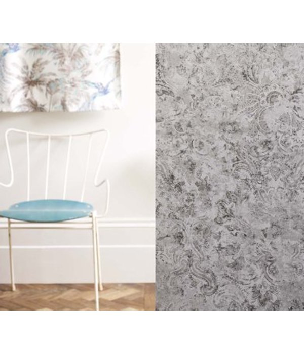 Matthew-Williamson Latania Silver Wallpaper