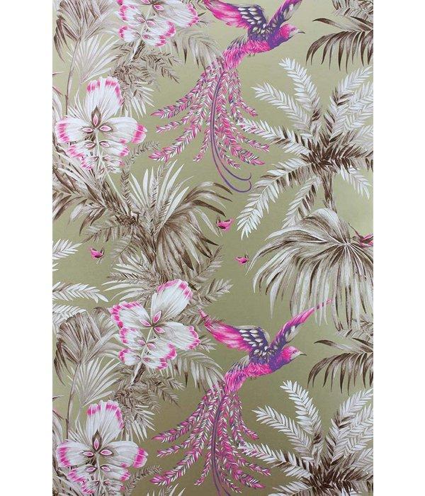 Matthew-Williamson Bird of Paradise Fuchsia/Purple Wallpaper