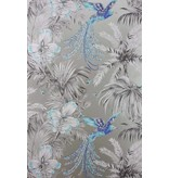 Matthew-Williamson Bird of Paradise Turquoise/Grey W6655-06 Behang