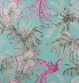 Matthew-Williamson Bird of Paradise Fuchsia/Taupe Wallpaper