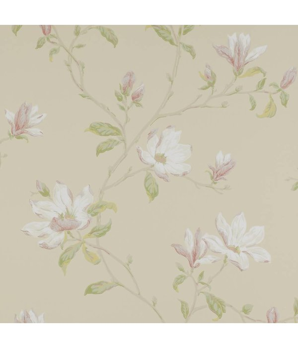 Colefax-Fowler Marchwood Ivory/Green Wallpaper