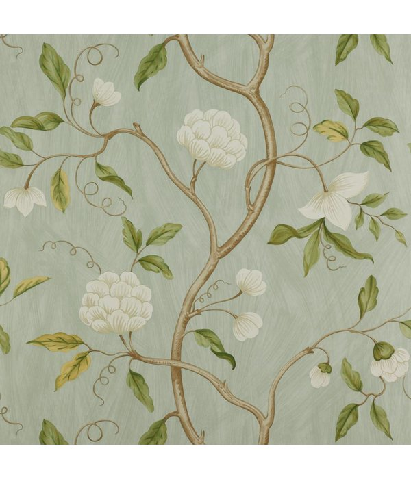 Colefax-Fowler Snow Tree Aqua Behang