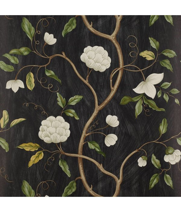 Colefax-Fowler Snow Tree Black Behang
