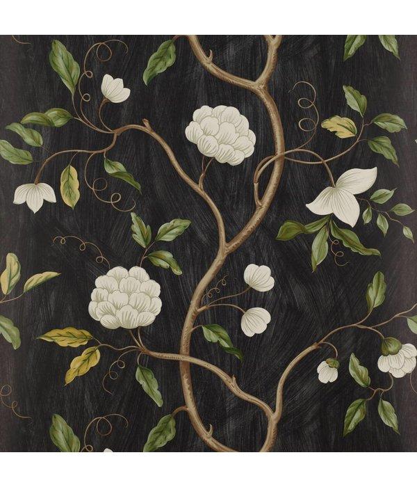 Colefax-Fowler Snow Tree Black Wallpaper